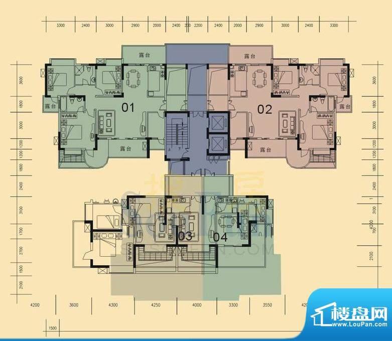 旭日华庭户型图八号楼 4室2厅2面积:139.00平米