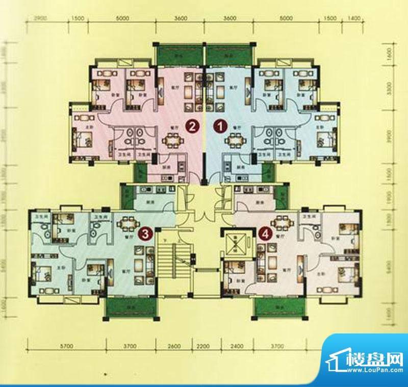 海逸豪庭户型图10栋1、2、3单元面积:91.99平米