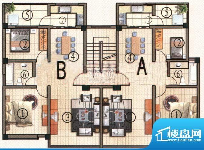 彝人古镇E41户型 3室面积:141.00m平米