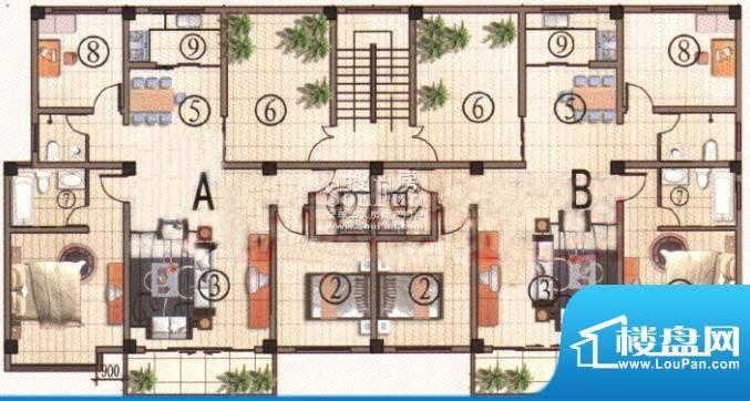 彝人古镇E37户型 3室面积:137.00m平米