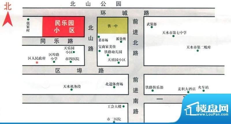 天伦民乐园交通图