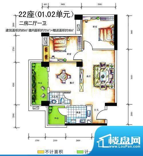 南天豪庭户型图02 面积:0.00m平米