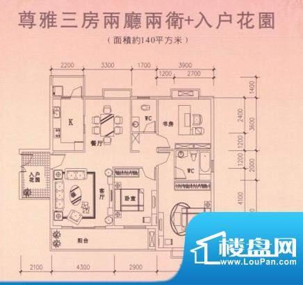 汇展华城户型2 面积:0.00m平米