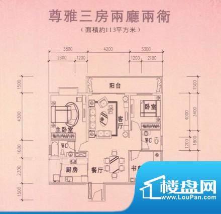 汇展华城户型4 面积:0.00m平米