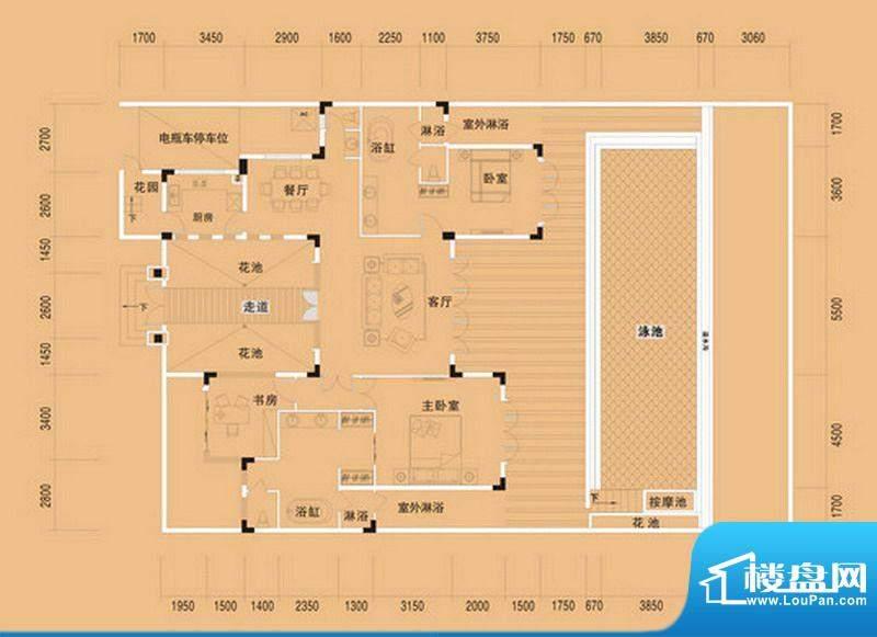 布洛陀小镇C户型 3室面积:155.68m平米