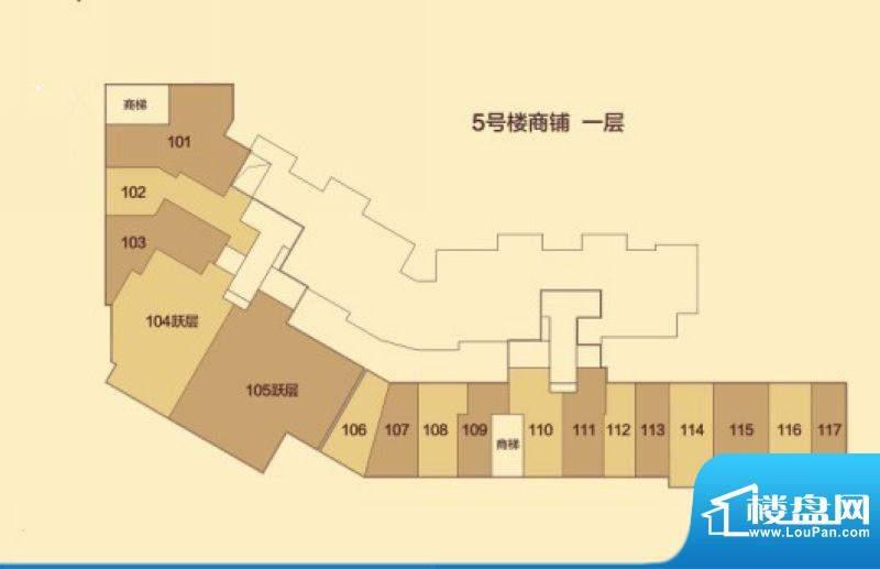 汇豪城5号楼1层户型面积:0.00m平米