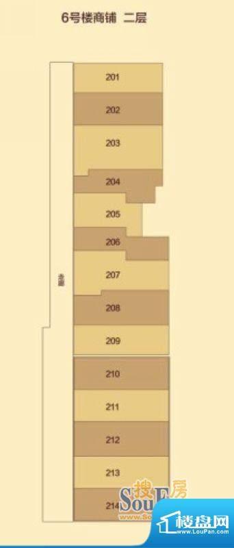 汇豪城6号楼2层户型面积:0.00m平米