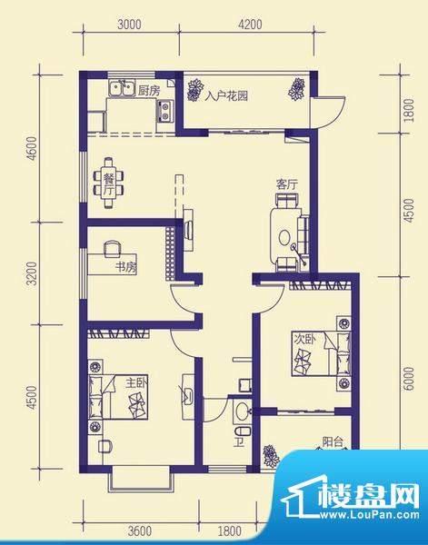 龙胤·财富广场10-1面积:101.27m平米
