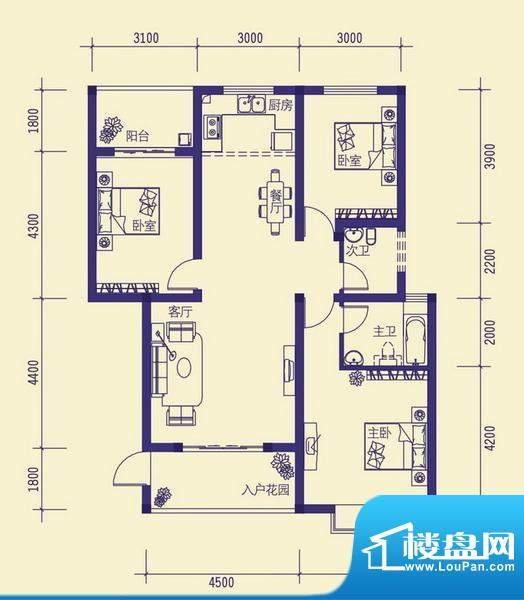龙胤·财富广场10-1面积:113.84m平米