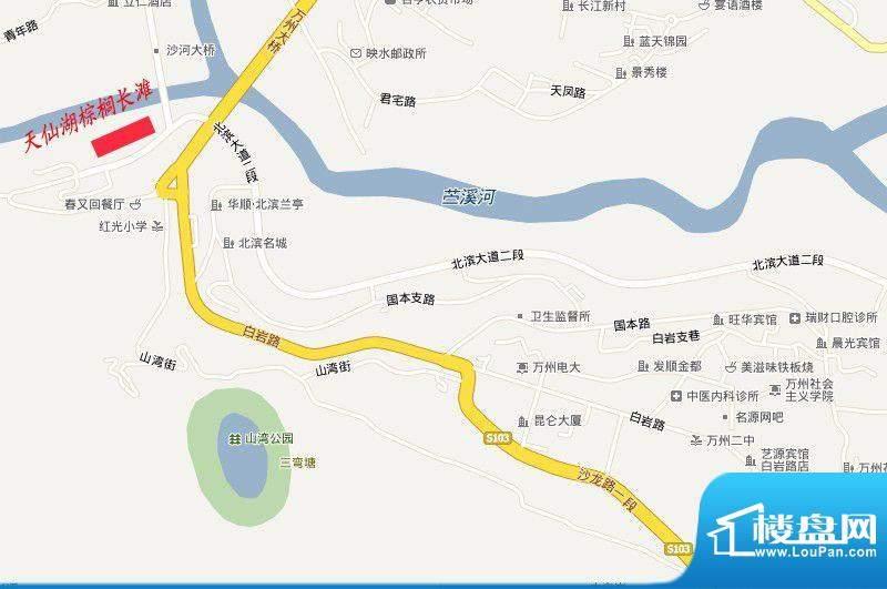 天仙湖棕榈长滩交通图