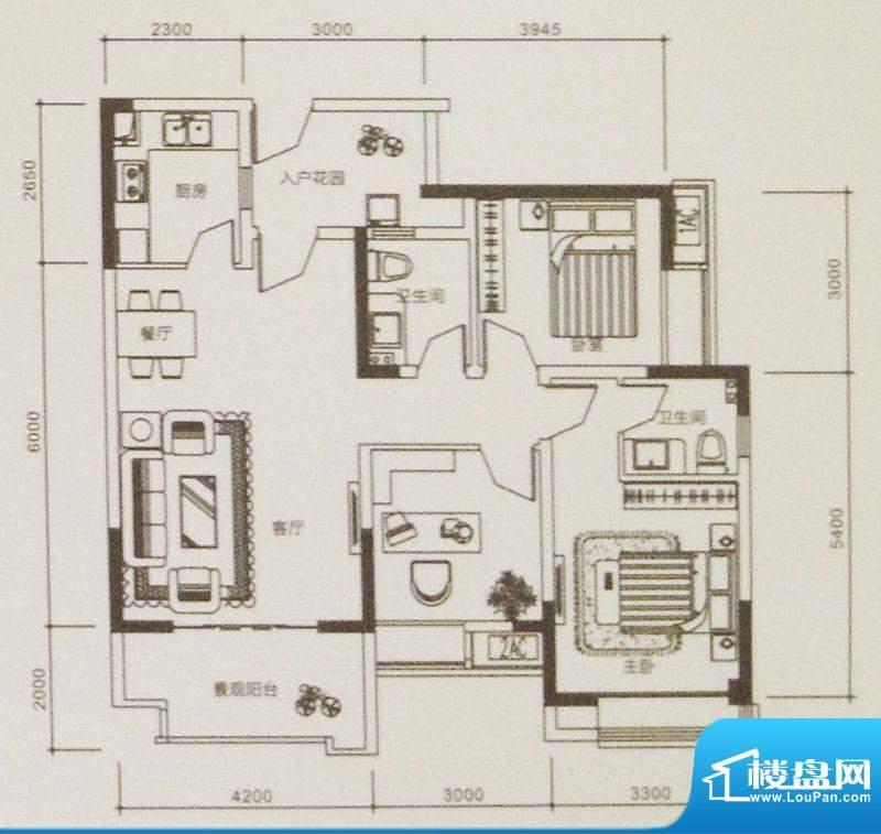 康德天子湖户型图一期4号楼标准面积:100.86平米