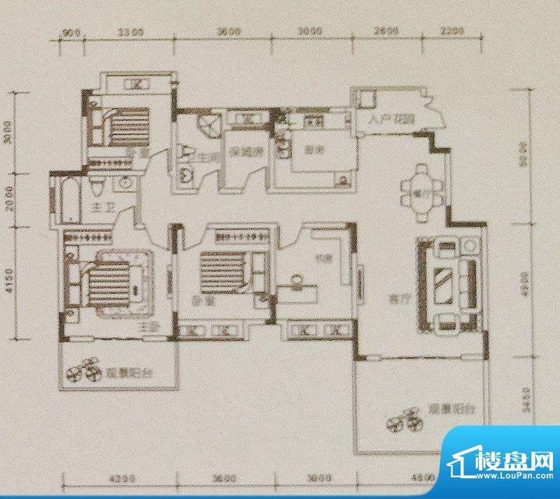 康德天子湖户型图一期23-31号楼面积:149.30平米