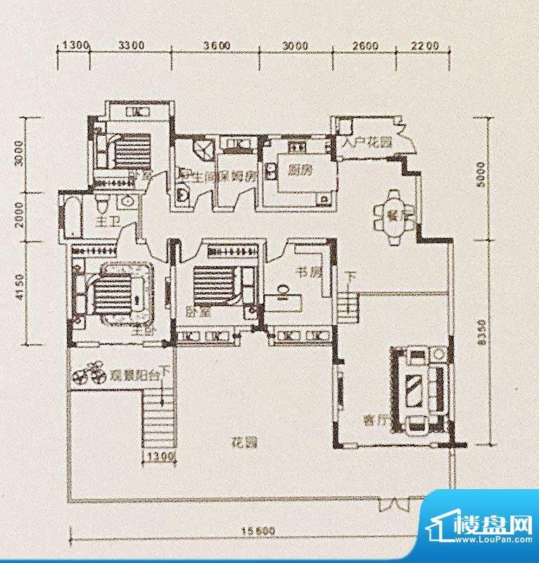 康德天子湖户型图一期23-31号楼面积:160.31平米