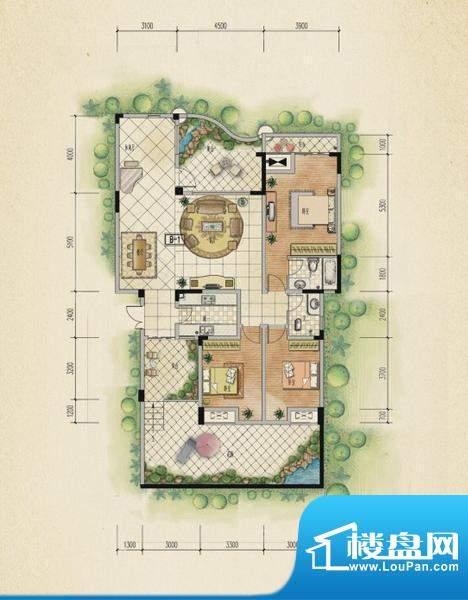 万山国际户型图一期1号楼1层A户面积:151.72平米