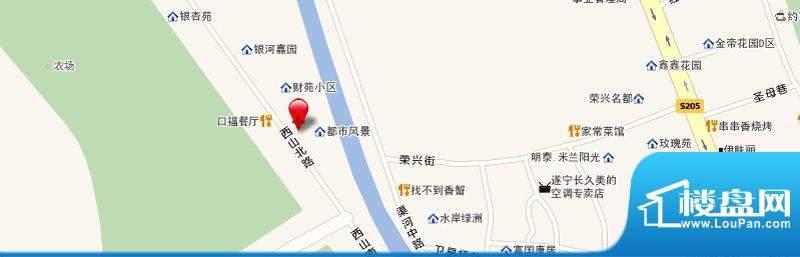 天宏水晶城交通图