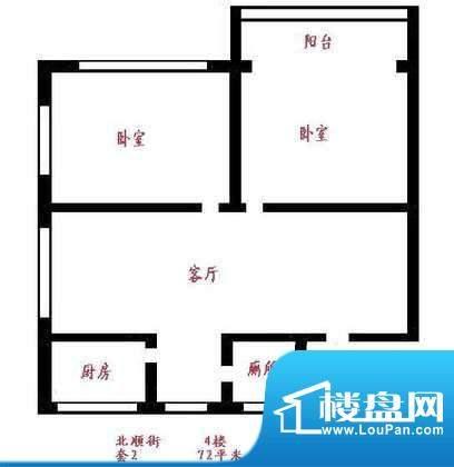 天宏水晶城户型图户型图 2室1厅