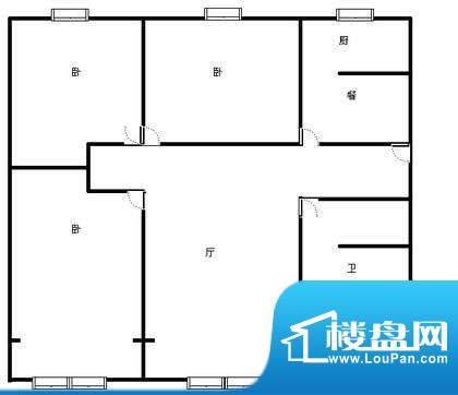 天宏水晶城户型图户型图 3室2厅