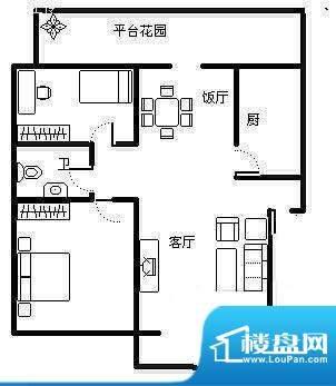 天宏水晶城户型图户型图 2室2厅