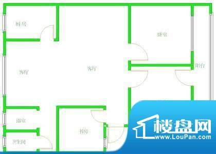 天宏水晶城户型图户型图 4室2厅