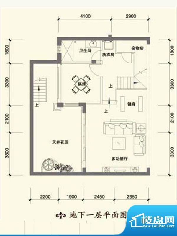 恒大金碧天下B1-1地面积:254.00m平米