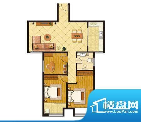 泰山公馆户型图b 3室2厅1卫1厨面积:118.00平米
