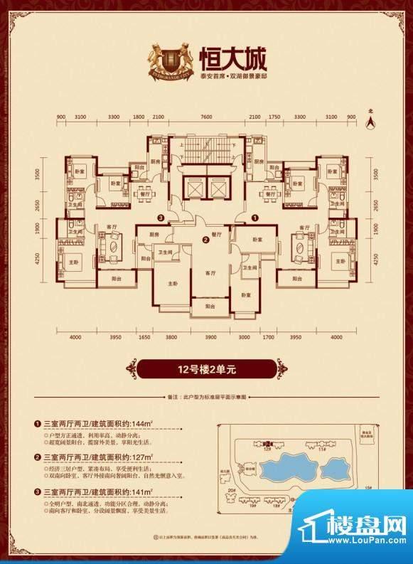 泰安·恒大城户型图12-2