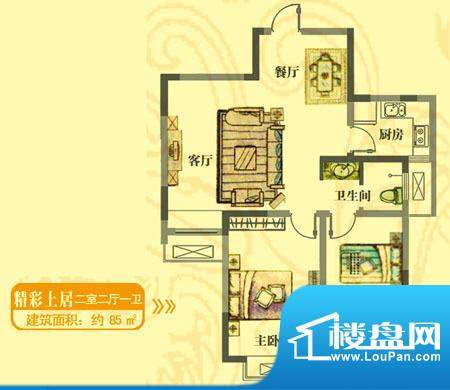 安居·上上城户型图jc 2室2厅1面积:85.00平米