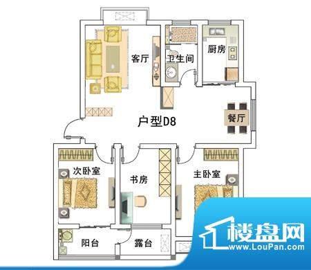 安居·上上城户型图8d 3室2厅1面积:104.00平米