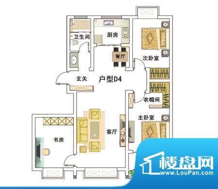 安居·上上城户型图4d 3室2厅1面积:112.00平米