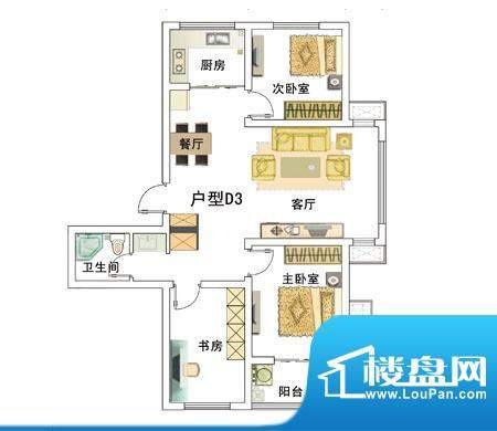 安居·上上城户型图ddd 3室2厅面积:97.00平米
