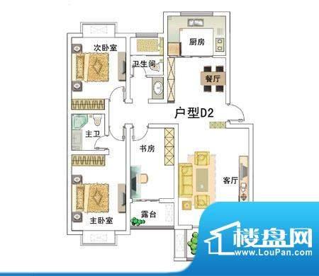 安居·上上城户型图dd 3室2厅2面积:125.00平米