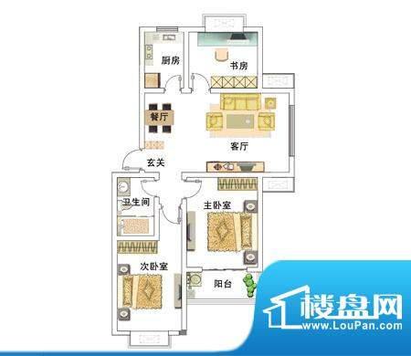 安居·上上城户型图d 3室2厅1卫面积:103.00平米