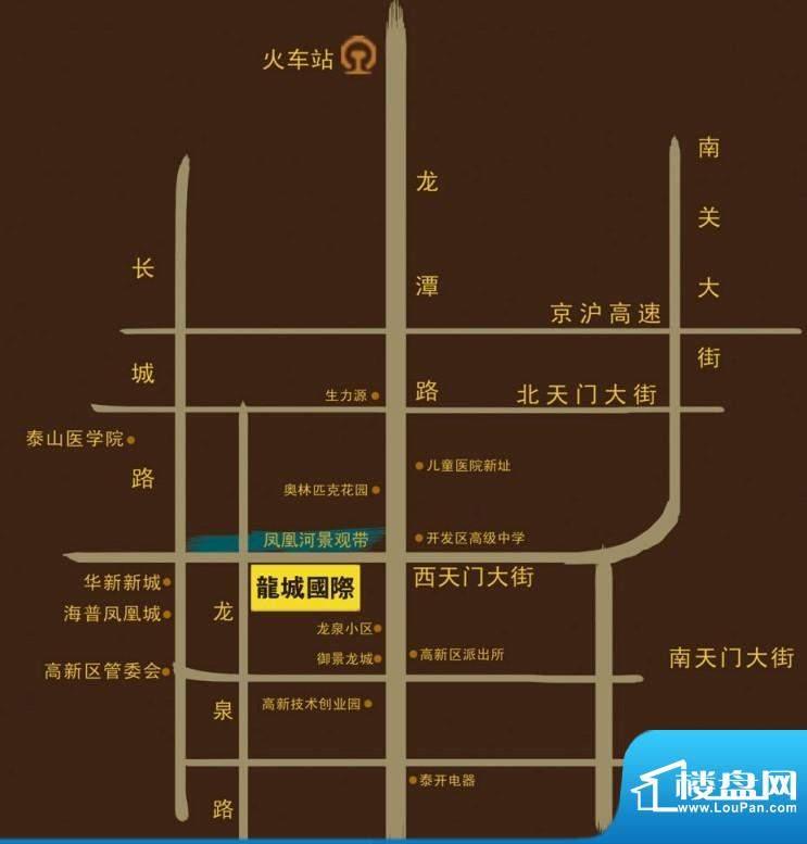 龙城国际交通图