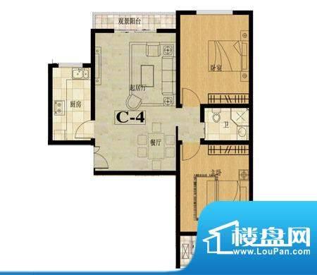龙城国际户型图10 2室2厅1卫面积:95.80平米