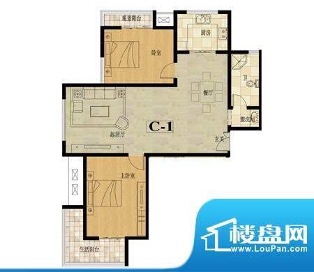龙城国际户型图7 2室2厅1卫面积:111.70平米