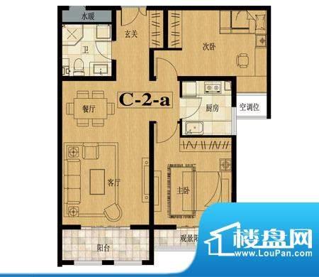 龙城国际户型图6 2室2厅1卫面积:89.10平米