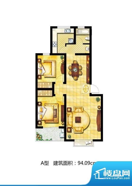 中天·南湖颐心园户型图a 2室2面积:94.09平米