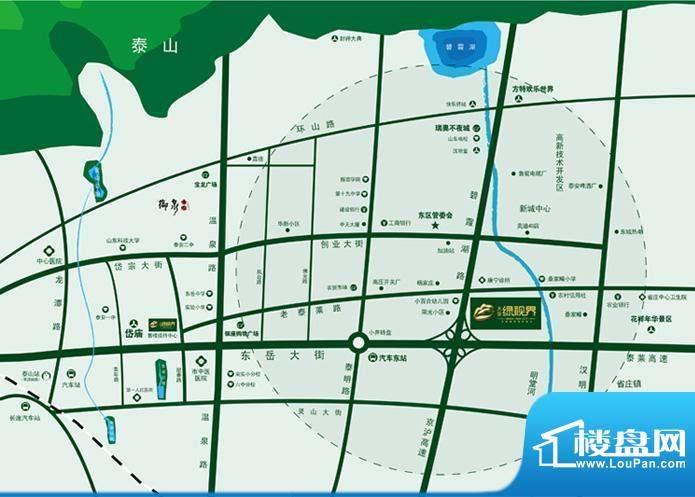 大安·绿视界交通图