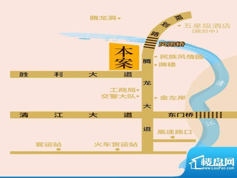 左岸丽川交通图