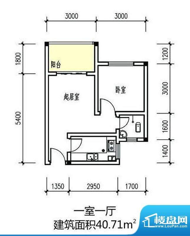伴山丽景一期1-8#楼面积:40.71m平米