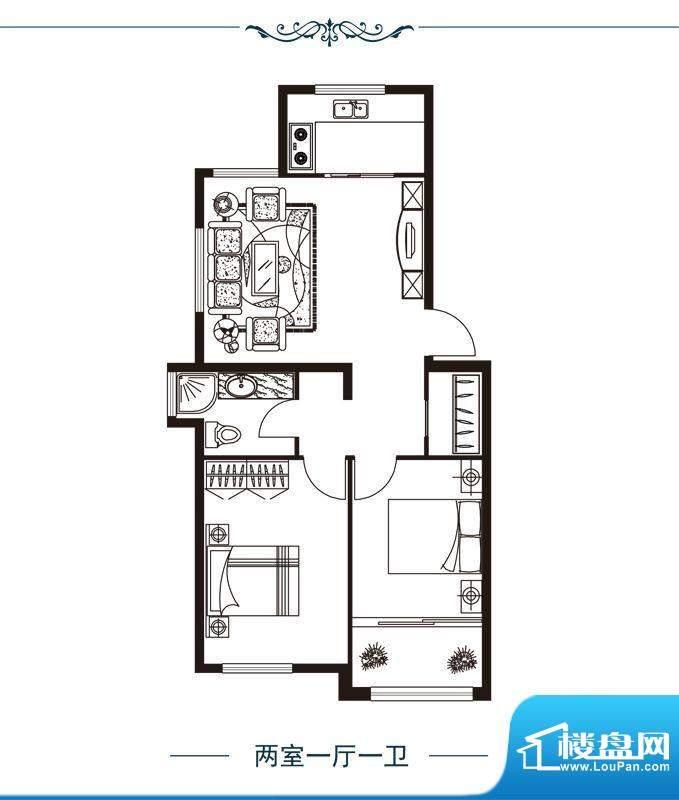 正丰香格里户单3 2室面积:82.00m平米