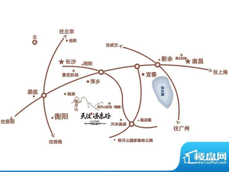 天沐温泉谷交通图