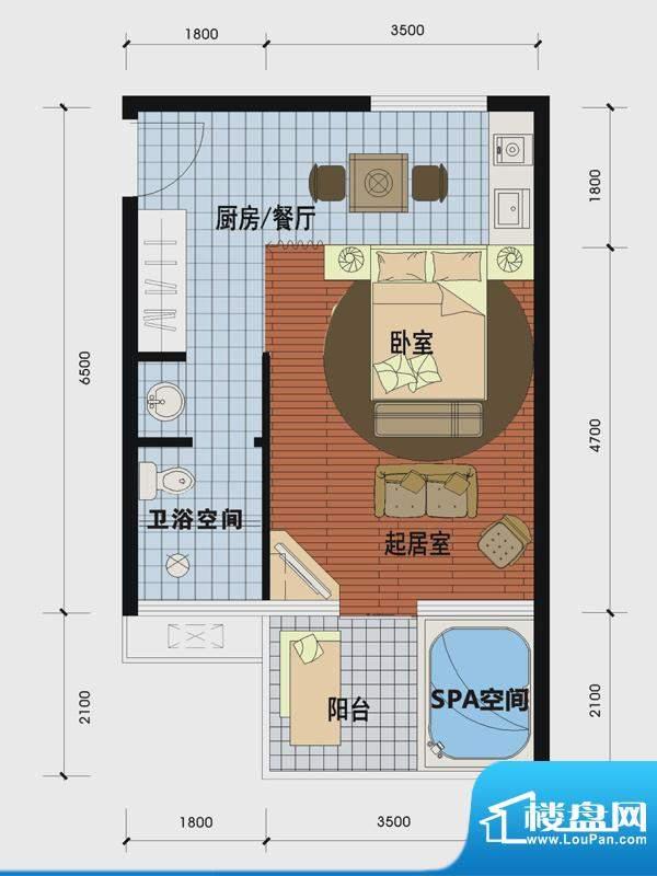 天沐温泉谷二期私人面积:45.00m平米