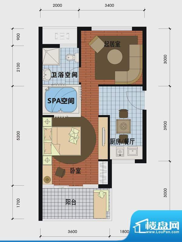 天沐温泉谷二期私人面积:53.00m平米