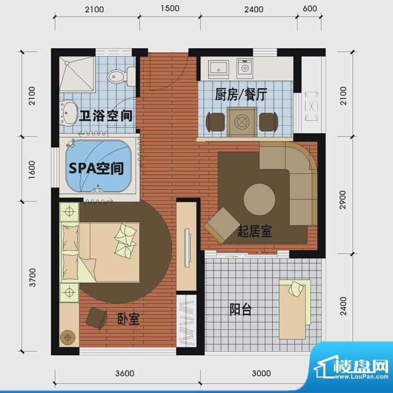 天沐温泉谷二期私人面积:54.00m平米