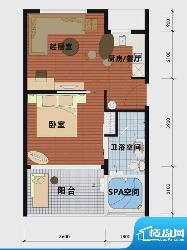 天沐温泉谷二期私人面积:55.00m平米