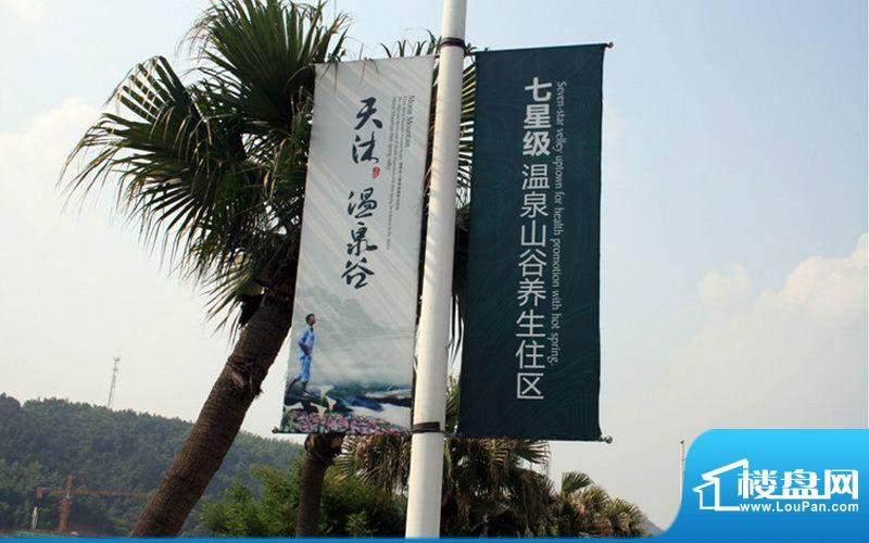 天沐温泉谷宣传外展板(摄于2010-6)