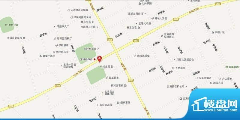 宝清百盟城市广场项目交通图