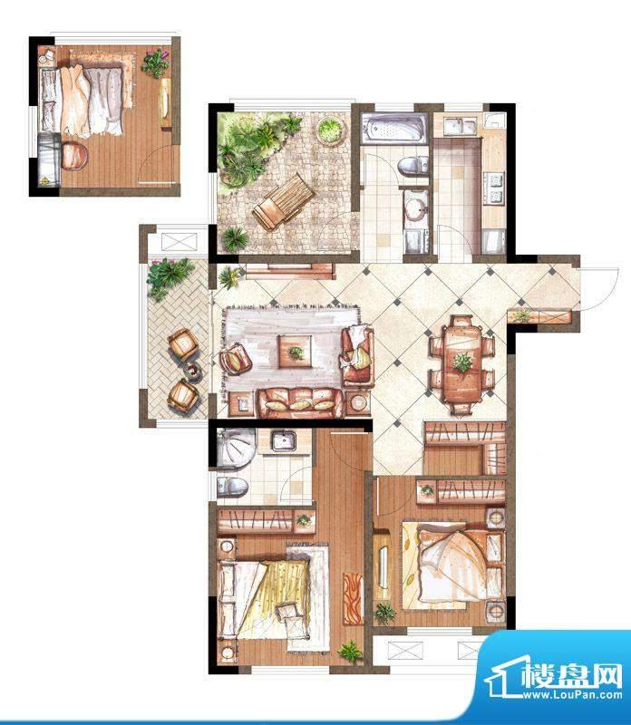 伟业迎春乐家户型图19#楼M2户型面积:110.00平米