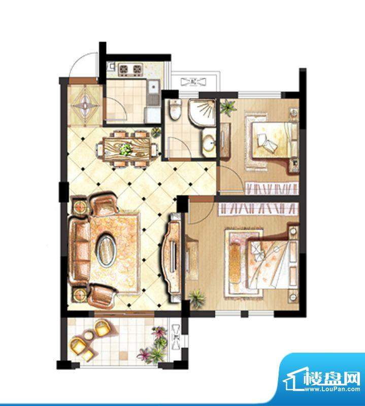 伟业迎春世家户型图1.3.6.10#标面积:87.00平米